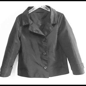 Prada Black Silk Poly Blend Blazer Sz S